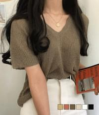 Pori Book Loose Fit Short Sleeve Knit