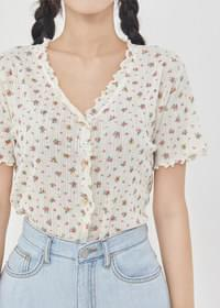Flower frill top