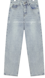 KROC WASHING BAGGY DENIM PANTS