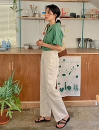 Wide Simple Cotton Pants