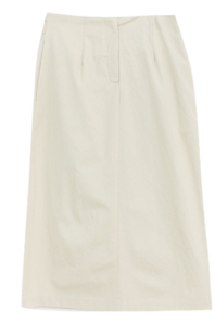 Button cotton skirt