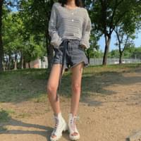 Sand summer net knit