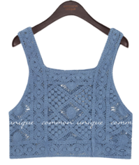 RIKO CROCHET KNIT SLEEVELESS