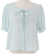 Alice Ribbon Puff Blouse