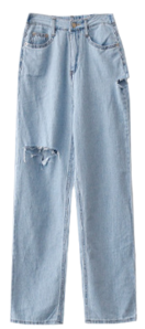 Former thumb denim pants