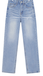 TIU WASHING STRAIGHT DENIM PANTS