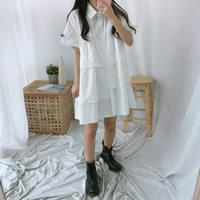Shirt Cancan Short Sleeve Dress