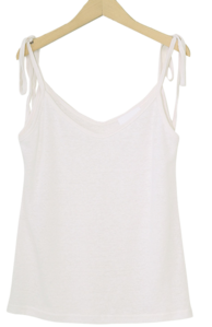 Lovely Ribbon Linen Sleeveless