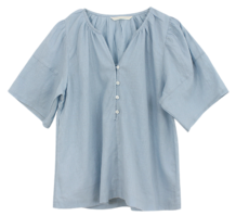 Linen button blouse