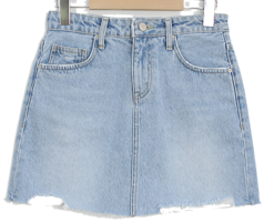 Natural denim skirt