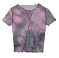Tie-dye room and see-through T-shirt