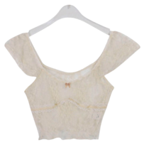 Lace Lena cropped T-shirt