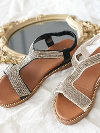 Petots Wedge Slingback Sandals 4 cm