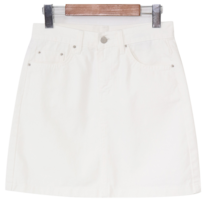 Casual cotton mini skirt