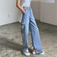 Grunge zit wide pants