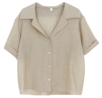Pleated roll-up blouse
