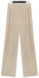 LOROS PINTUCK WIDE SLACKS