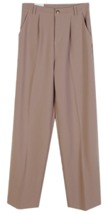 S/S Wide Pin Chin Slacks