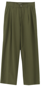 Mine wide cotton pin tuck pants