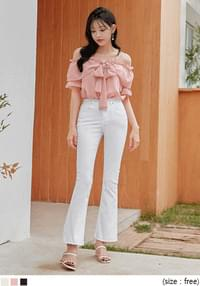 COSMO OFF SHOULDER 1/2 BLOUSE