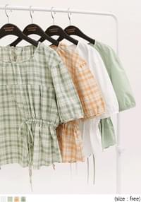 COTTON STRING 1/2 BLOUSE - 2 TYPE