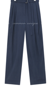 TOBA PINTUCK BELT LONG SLACKS