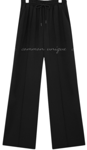 FUZZ BANDING WIDE LONG PANTS