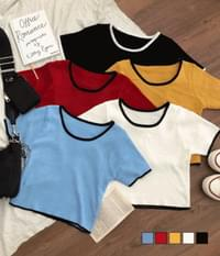 Rappa color cropped knit