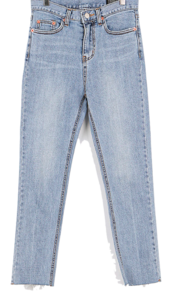 More slim straight cutting jeans