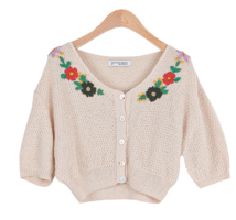 #Any place Jude flower embroidered knit cardigan