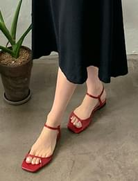 To-open double strap sandals