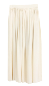 Gauze pleated skirt