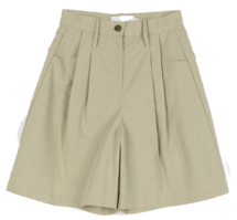 Xi wide pintuck cotton shorts