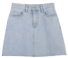 The fit is not short but the fit is pretty :) Denim skirt