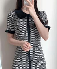 Uniuni Check Knit Dress