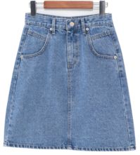 Daily denim mini skirt