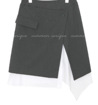 ROY SET-UP LAYERED UNBAL SKIRT