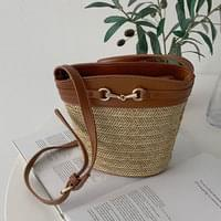 Salted Rattan Cross Bag