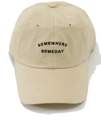 Someday Lettering Embroidery Ball Cap