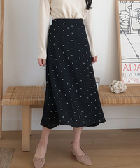 ★Free Shipping Lowest Price★Dot Flare Long SK