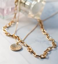 Layered square chain coin #85960