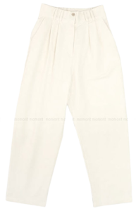French pintuck banding pants