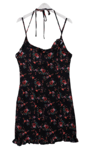 Flower formulation mini dress