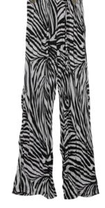 Wrinkle Zebra Wide Pants
