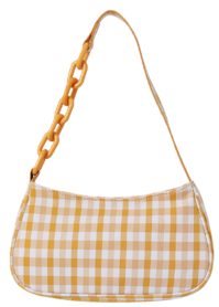 Check Candy Chain Shoulder Bag