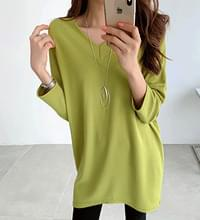 Loose Fit V Neck Daily Shirt #106945