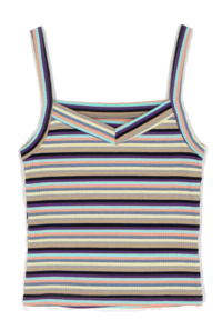 Mix striped sleeveless top