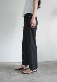 season low semi-crop denim