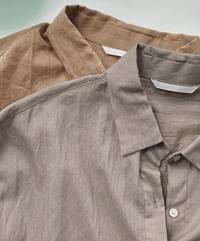 Double-ring cotton short-sleeved shirt