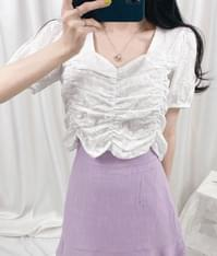 Rich Shirring Blouse